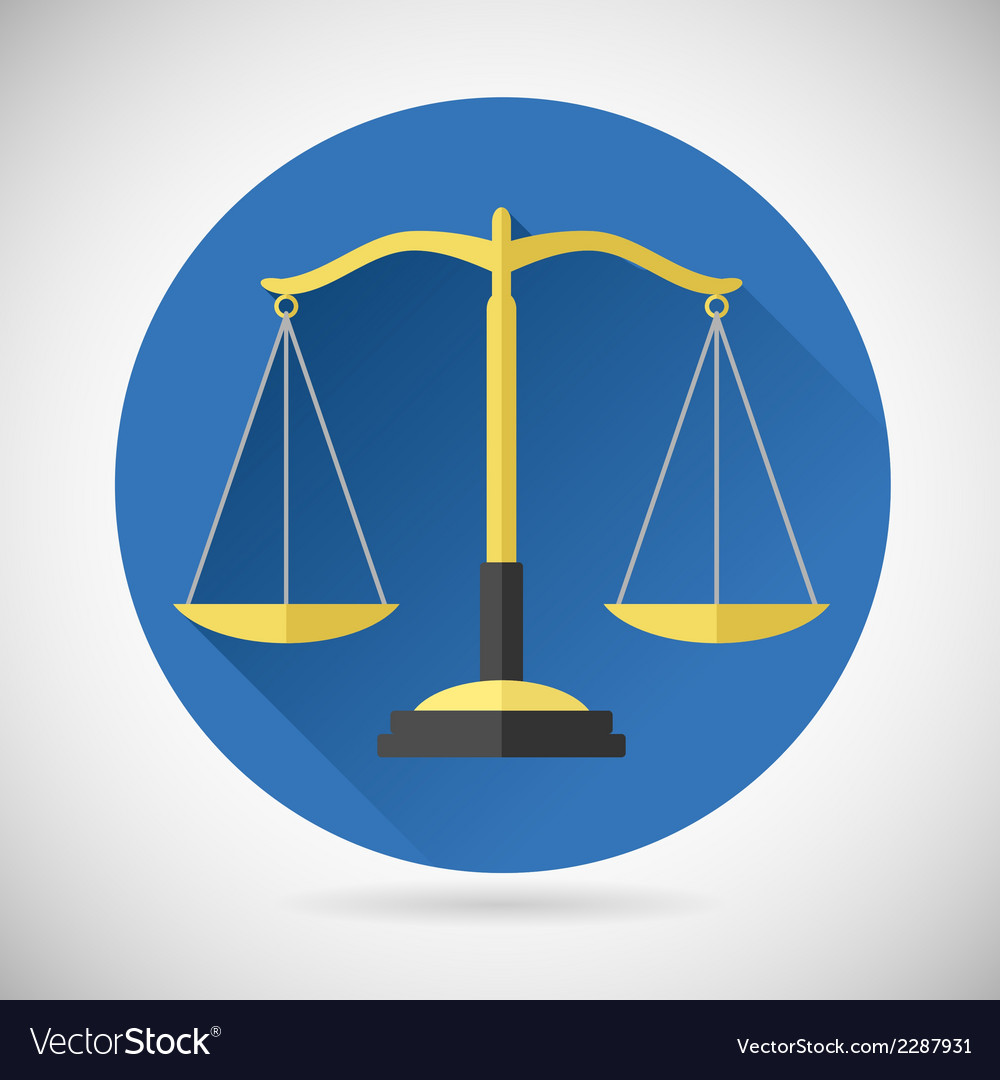 Law balance symbol justice scales icon on stylish vector | Price: 1 Credit (USD $1)