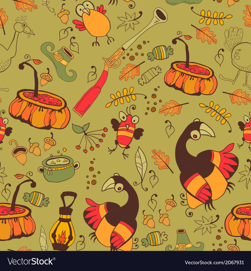 The pattern for the autumn holidays vector | Price: 1 Credit (USD $1)