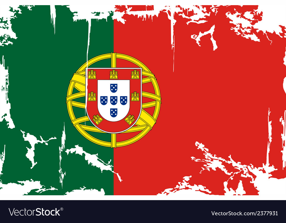 Portuguese grunge flag vector | Price: 1 Credit (USD $1)