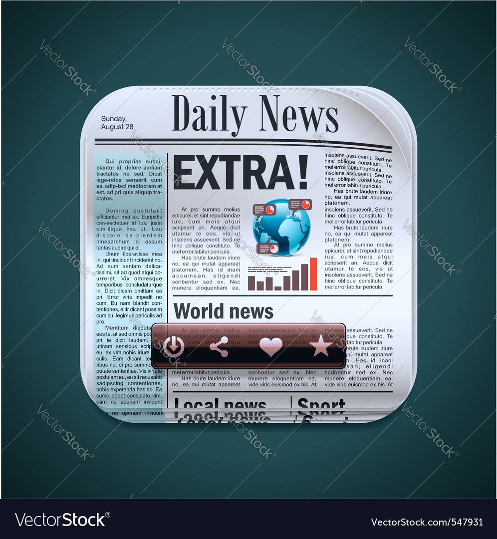 Square newspaper xxl icon vector | Price: 3 Credit (USD $3)