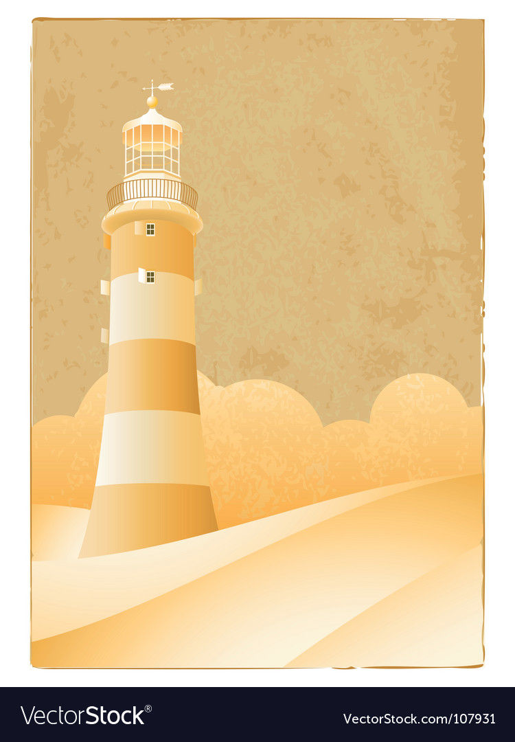 Vintage lighthouse vector | Price: 1 Credit (USD $1)