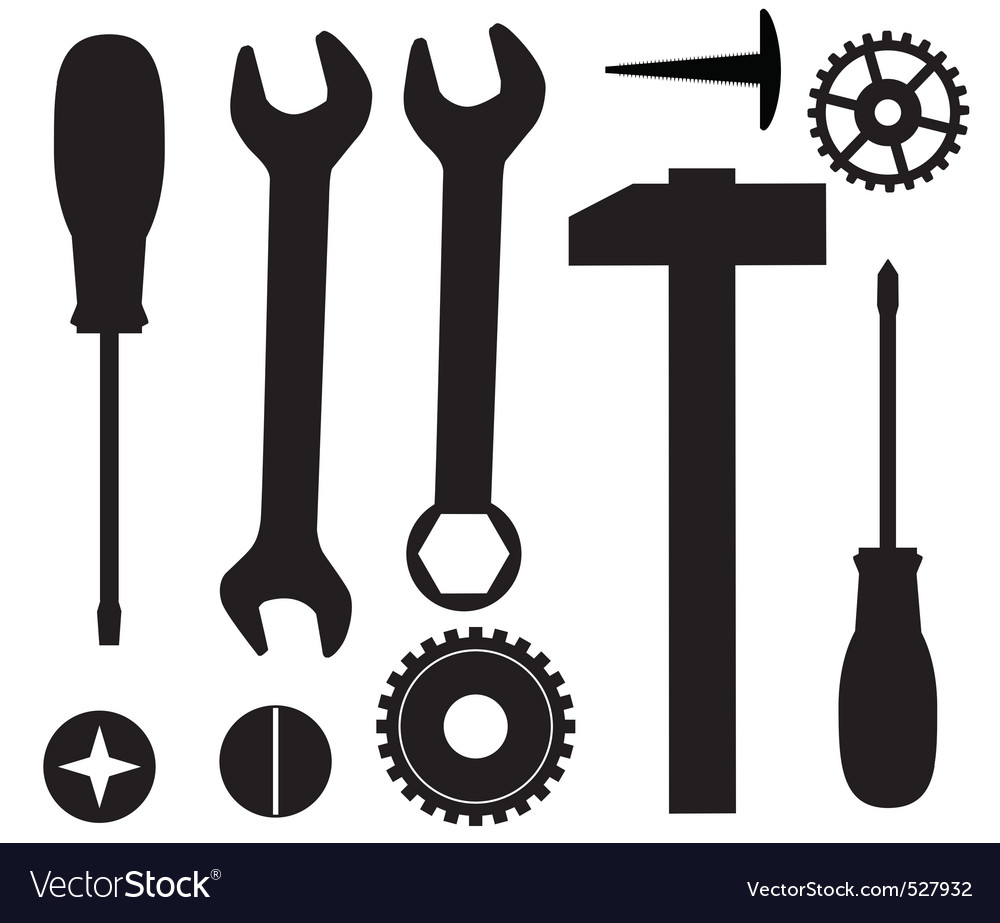 A set of tools vector | Price: 1 Credit (USD $1)