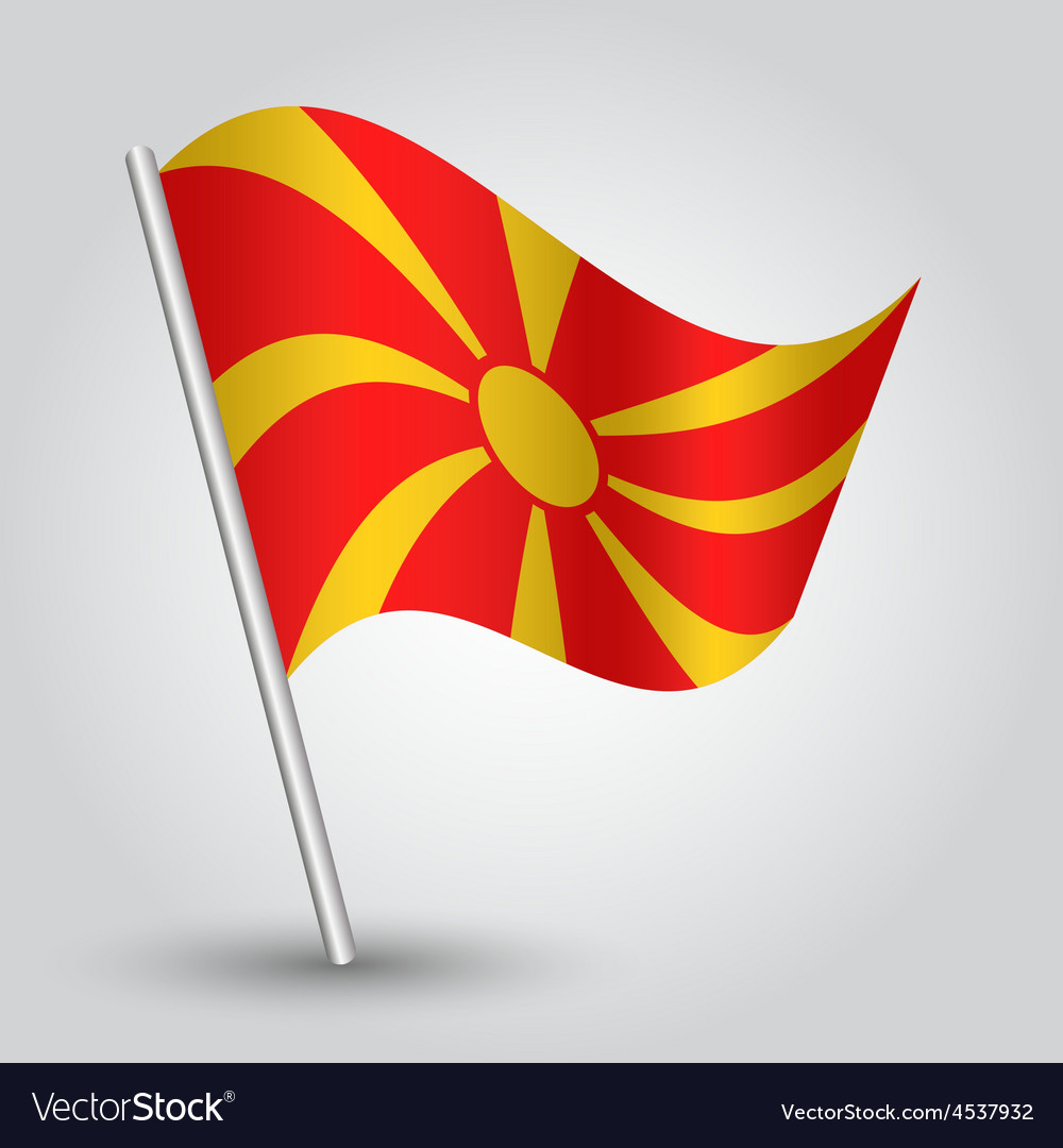 Flag macedonia vector | Price: 1 Credit (USD $1)