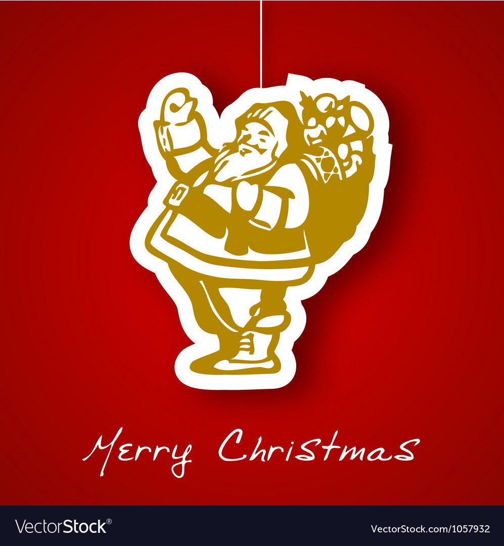 Gold santa applique background vector | Price: 1 Credit (USD $1)