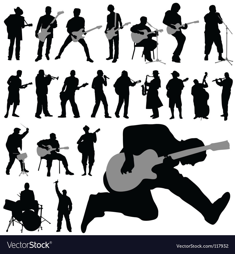 Musician set vector | Price: 1 Credit (USD $1)