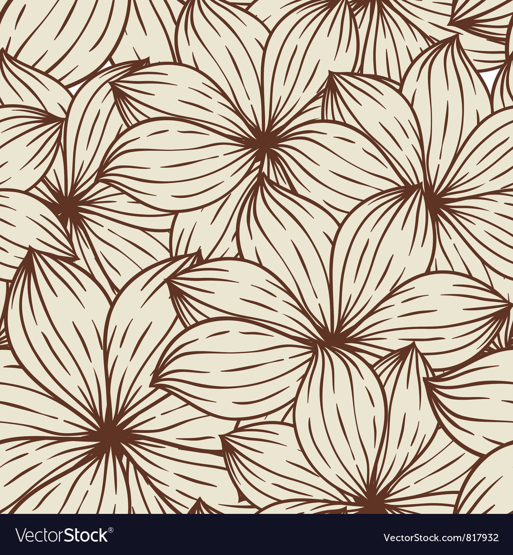 Seamless texture of abstract flowers vector | Price: 1 Credit (USD $1)