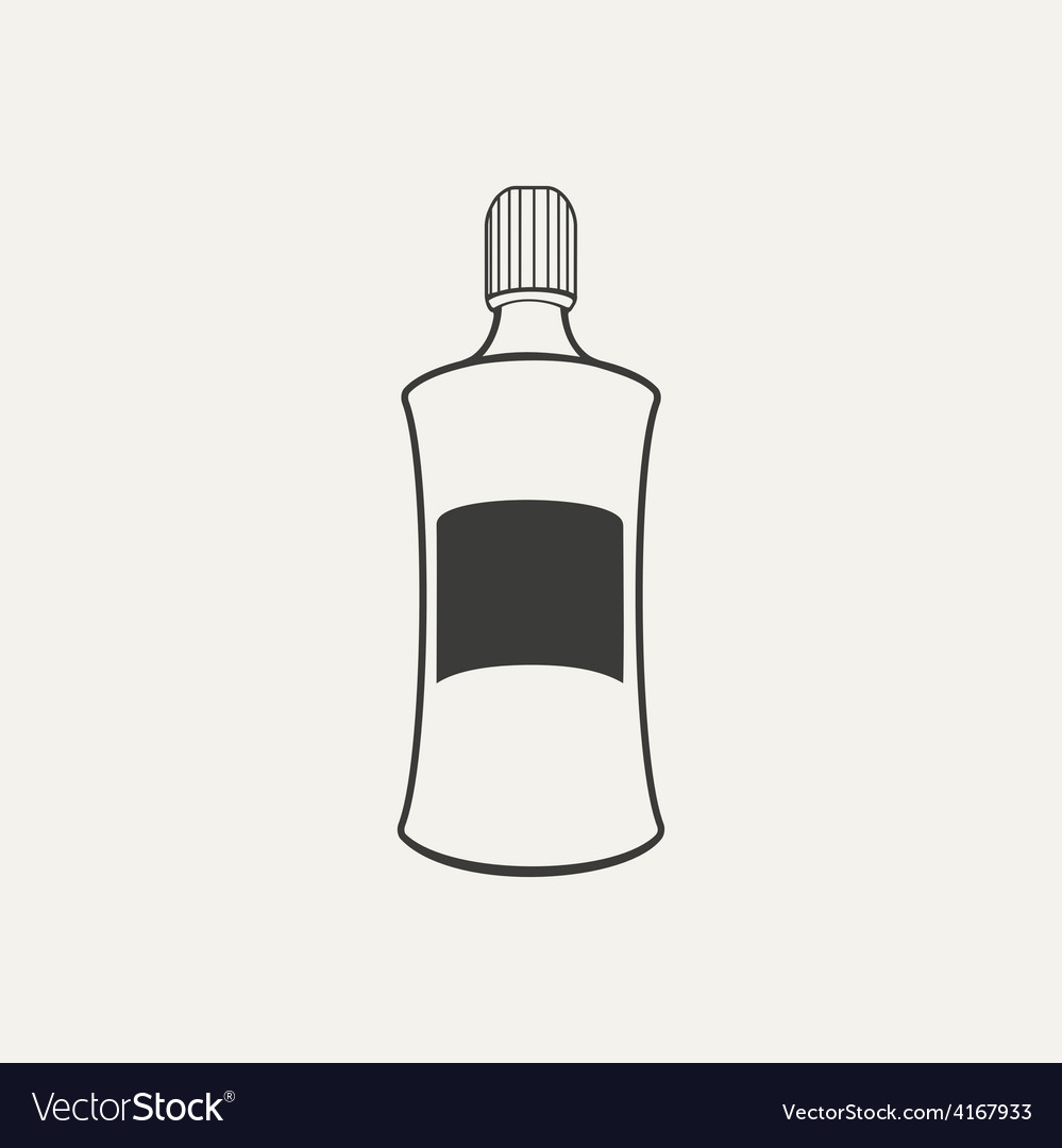 Bottle black and white style vector | Price: 1 Credit (USD $1)