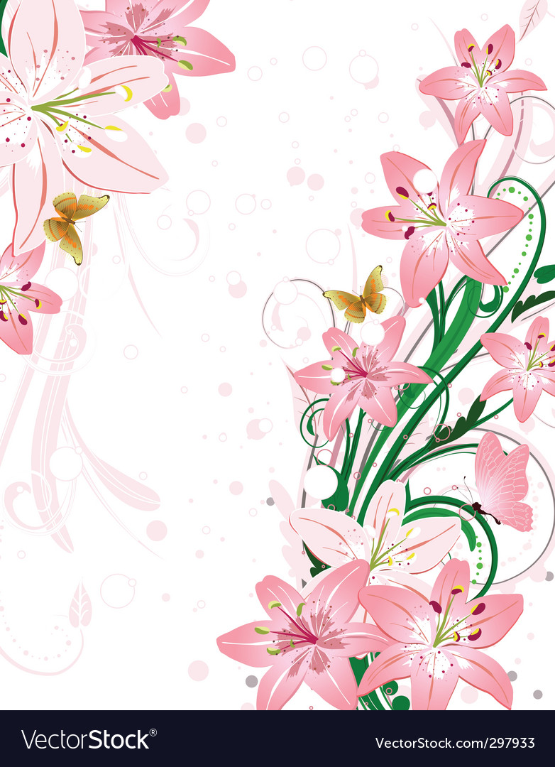 Bouquet lily vector | Price: 1 Credit (USD $1)