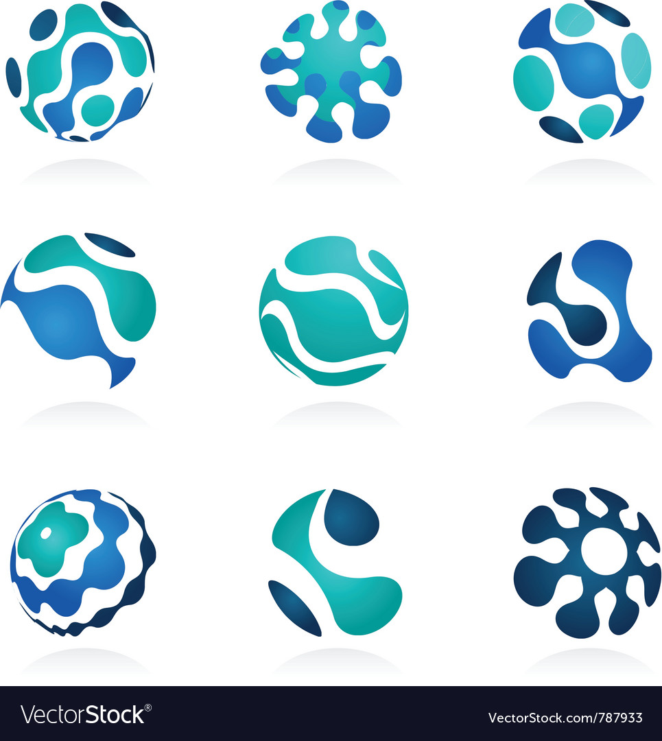 Business abstract icons set vector | Price: 1 Credit (USD $1)