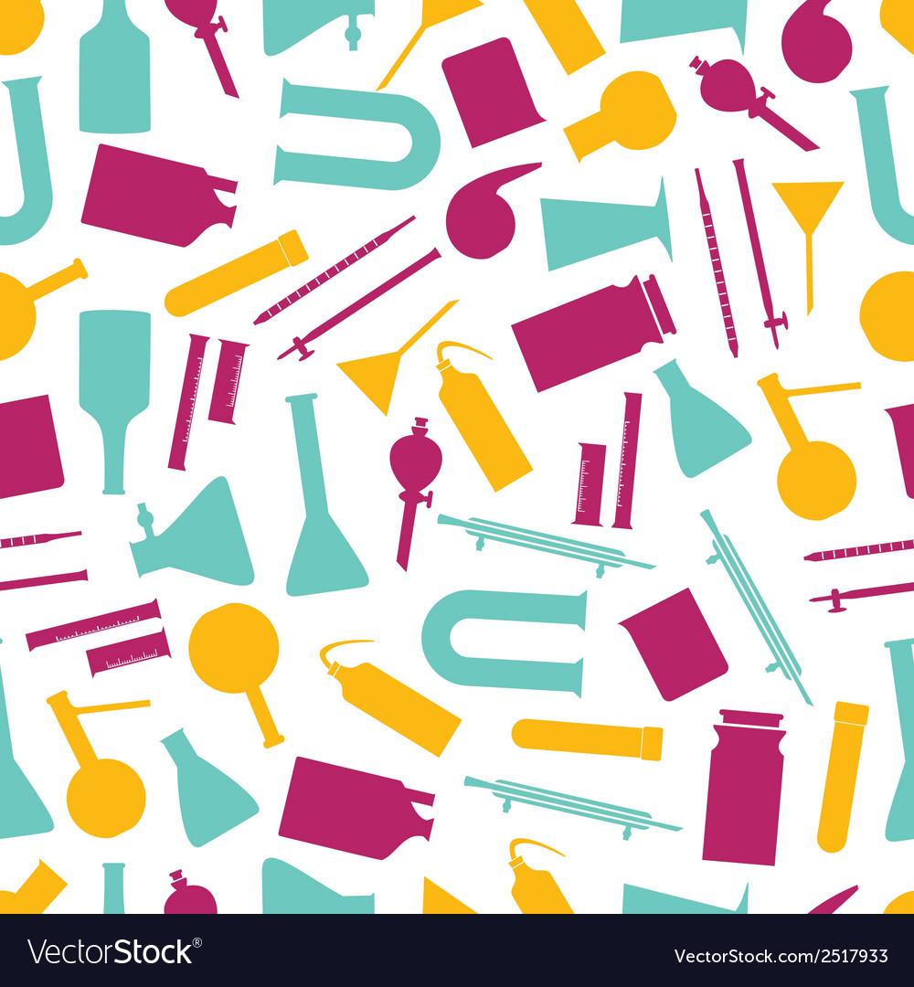 Chemistry laboratory glassware color pattern eps10 vector   Price: 1 Credit (USD $1)