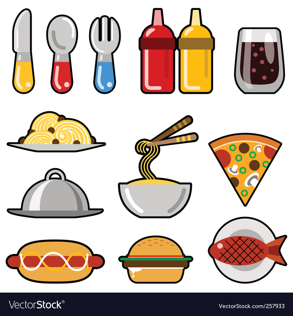 Fast food icons vector   Price: 1 Credit (USD $1)