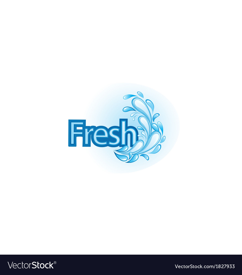 Fresh and water label vector | Price: 1 Credit (USD $1)
