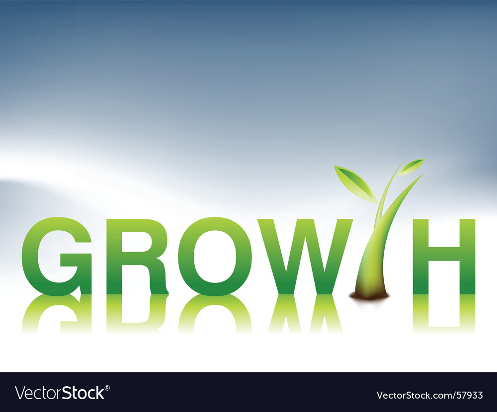 Growth illustration vector | Price: 1 Credit (USD $1)