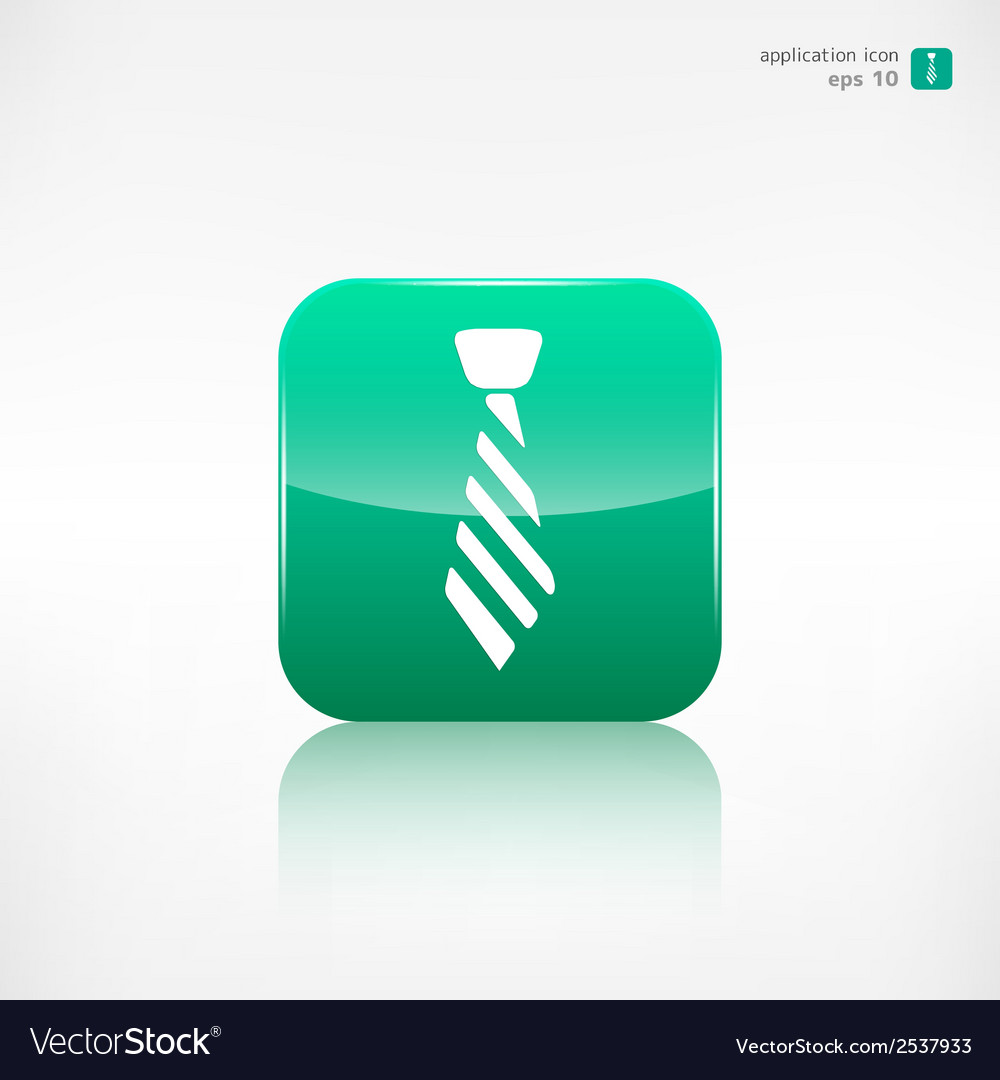 Hipster tie icon vector | Price: 1 Credit (USD $1)