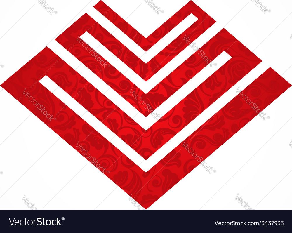 Pattern heart vector | Price: 1 Credit (USD $1)