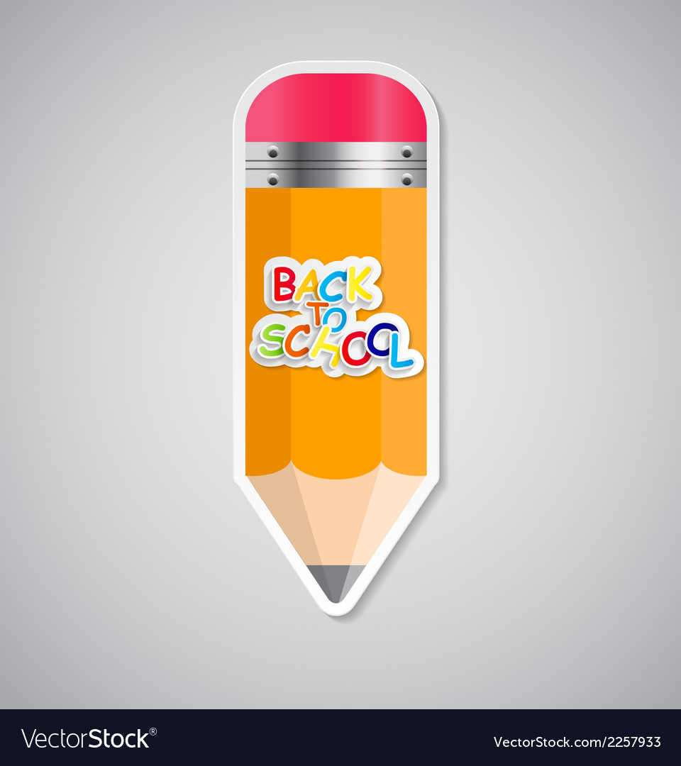 Pencil sticker label vector | Price: 1 Credit (USD $1)