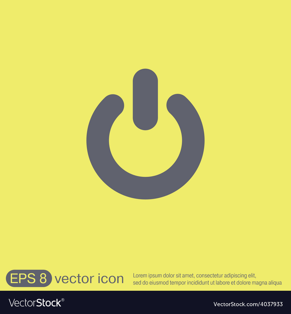 Power sign character on and off vector | Price: 1 Credit (USD $1)