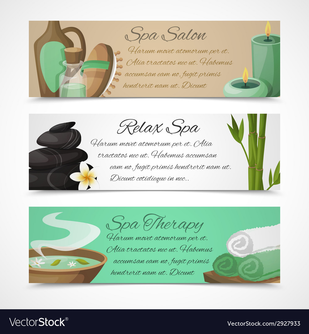 Spa banners horizontal vector   Price: 1 Credit (USD $1)
