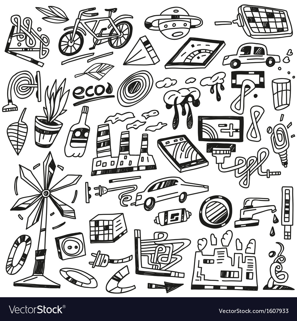 Technology  ecology - icons vector | Price: 1 Credit (USD $1)