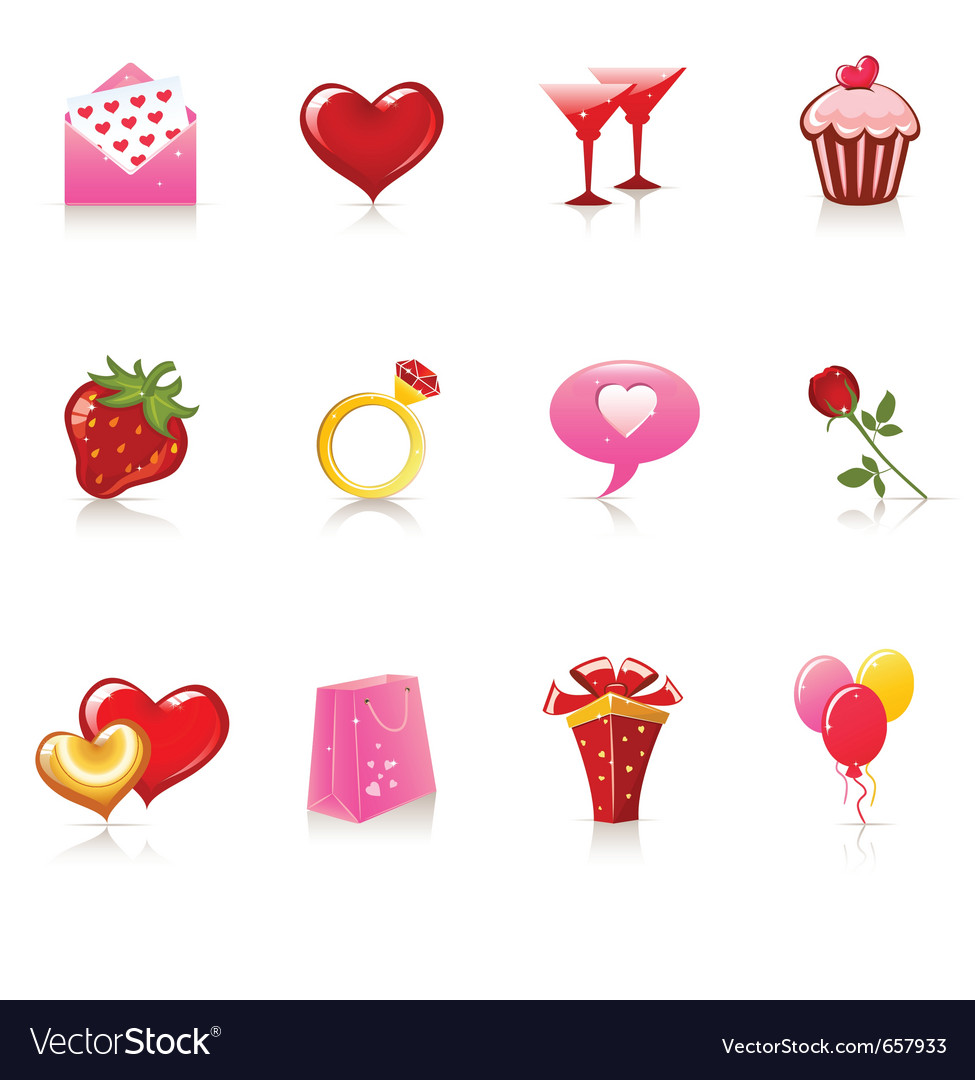 Valentine day icons vector | Price: 3 Credit (USD $3)