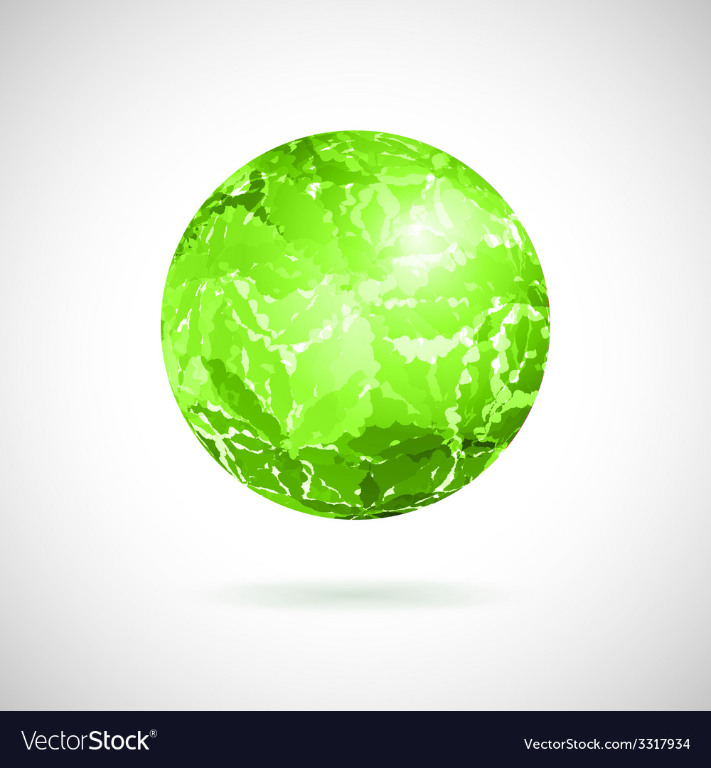 Abstract ball of green spots vector | Price: 1 Credit (USD $1)