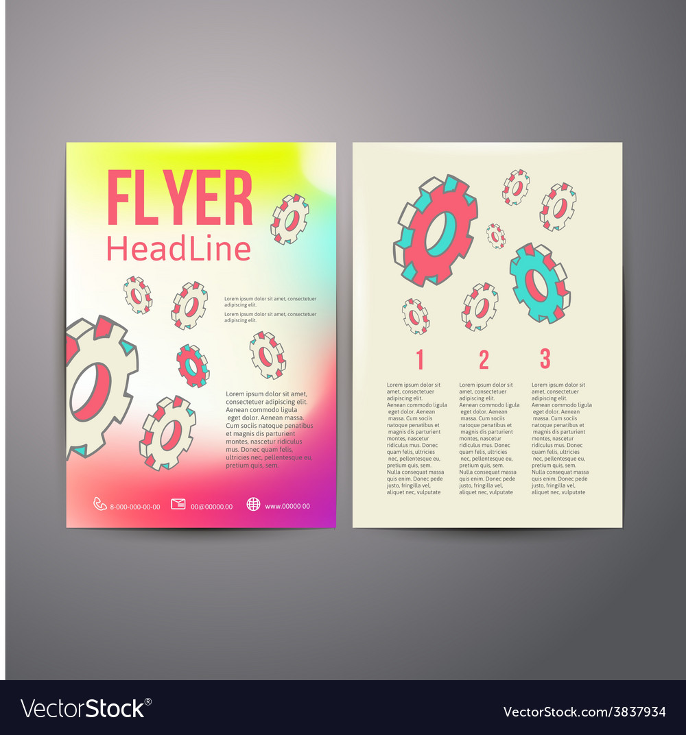 Abstract brochure flyer design human head with vector | Price: 3 Credit (USD $3)