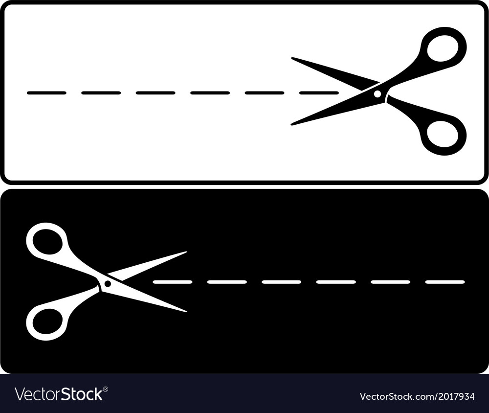 Black and white scissors vector | Price: 1 Credit (USD $1)
