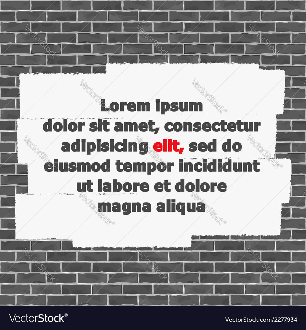 Brick wall with place for text vector | Price: 1 Credit (USD $1)