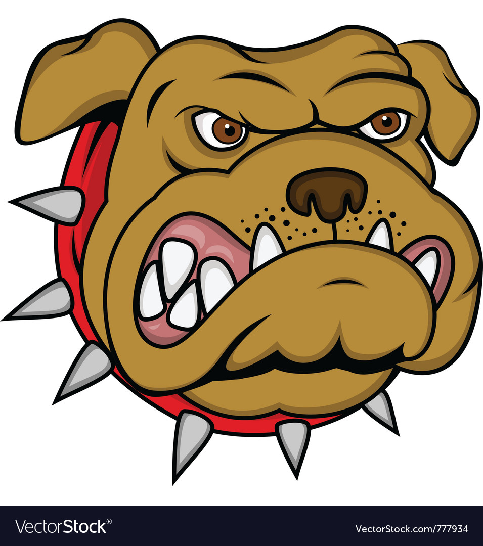 Bulldog cartoon vector | Price: 1 Credit (USD $1)
