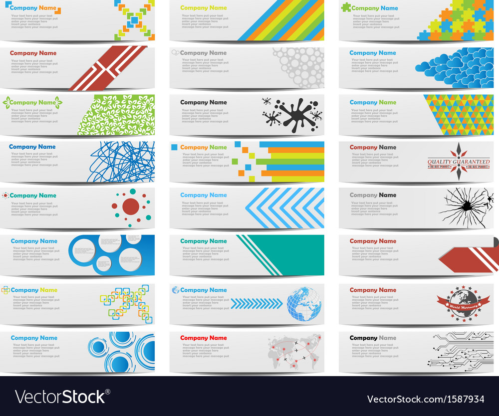 Colorful banner set of twenty-four vector | Price: 1 Credit (USD $1)