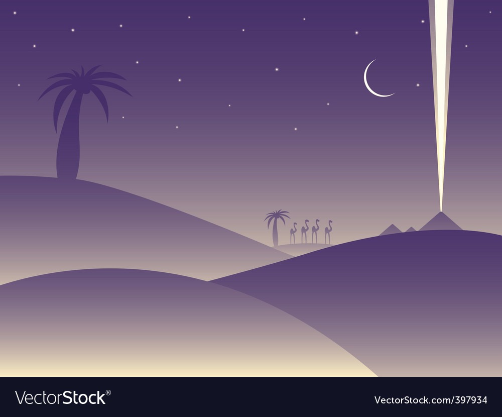 Desert camels vector | Price: 1 Credit (USD $1)