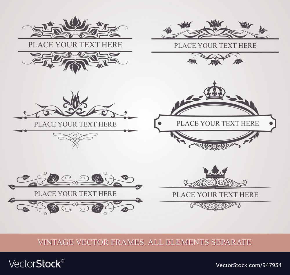 Design elements and frames vector | Price: 1 Credit (USD $1)