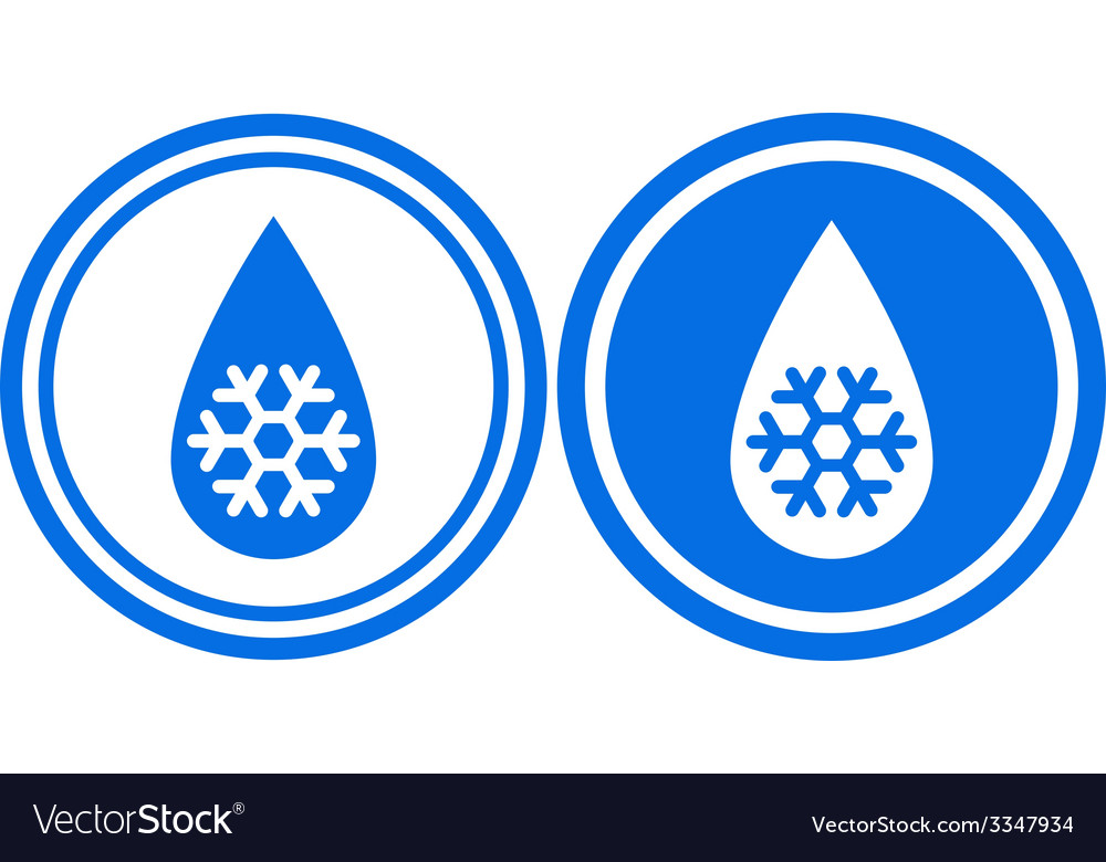 Droplet with snowflake vector | Price: 1 Credit (USD $1)