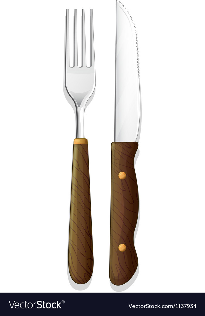 Knife and fork vector | Price: 1 Credit (USD $1)