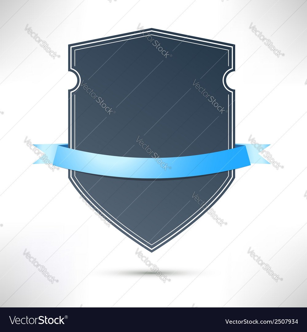 Modern badge with blue ribbon template vector   Price: 1 Credit (USD $1)