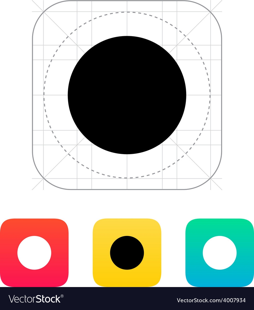New moon abstract icon vector | Price: 1 Credit (USD $1)
