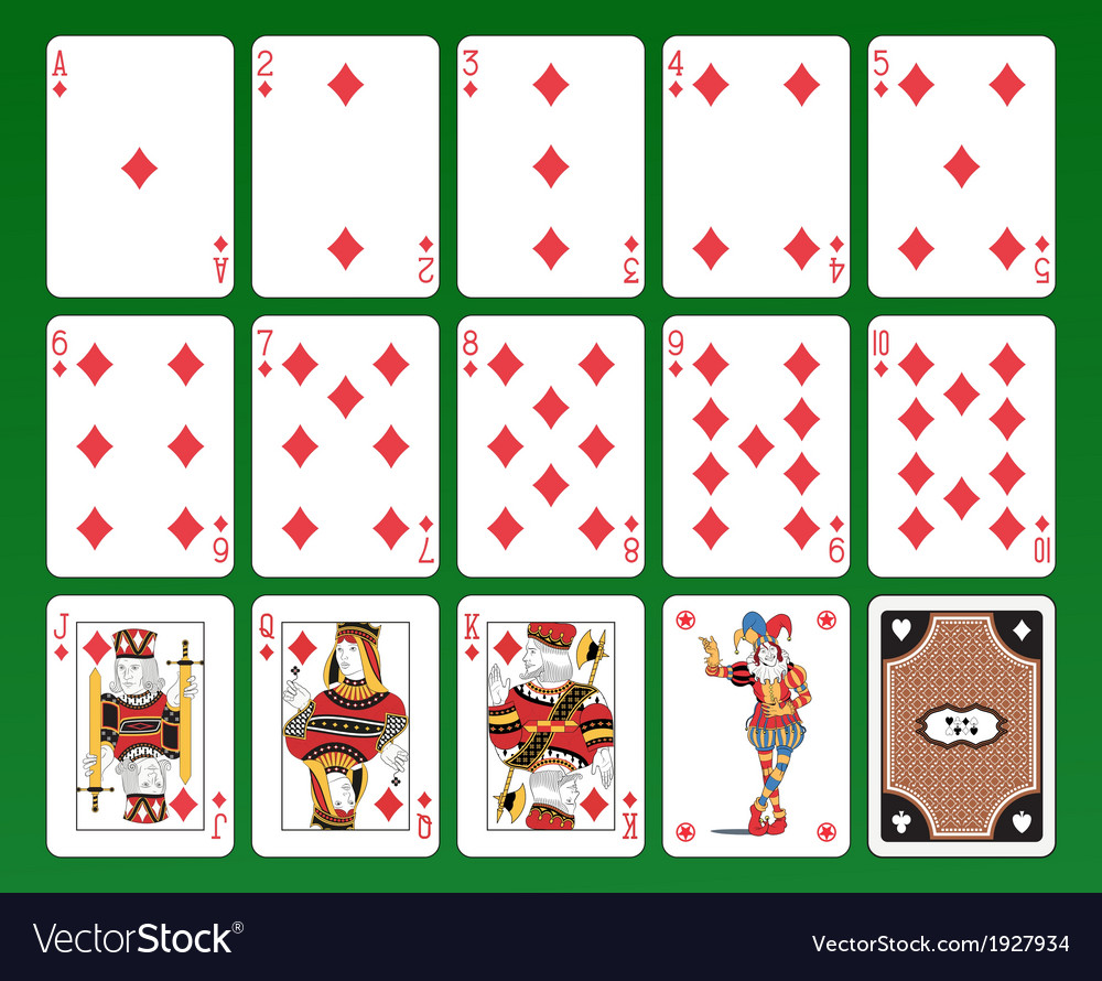 Playing cards of clubs vector | Price: 1 Credit (USD $1)