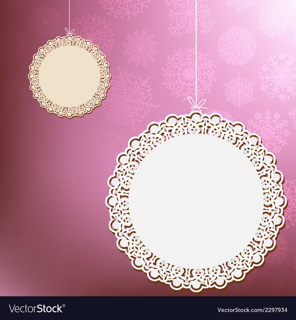 Red lace ornament card  eps8 vector | Price: 1 Credit (USD $1)