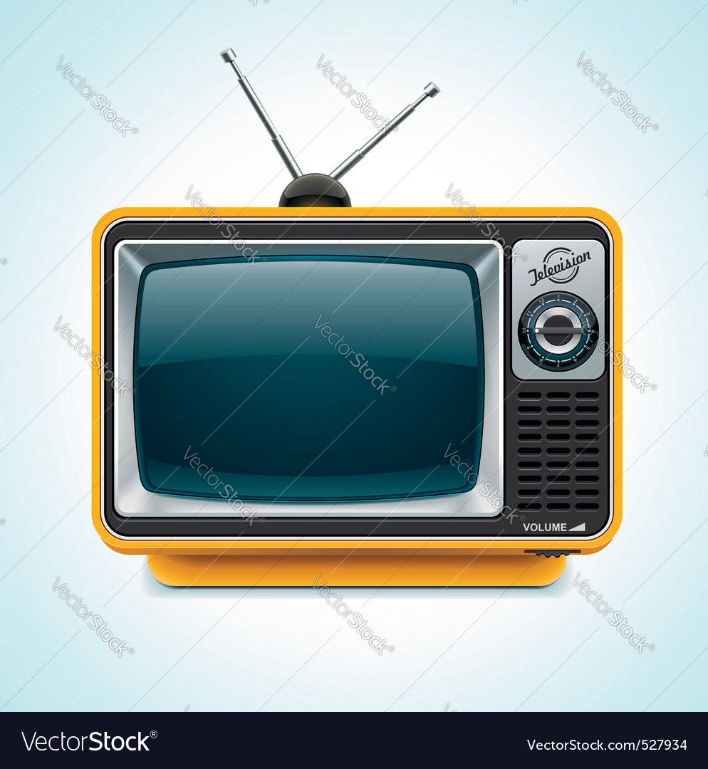 retro tv xxl icon vector | Price: 3 Credit (USD $3)