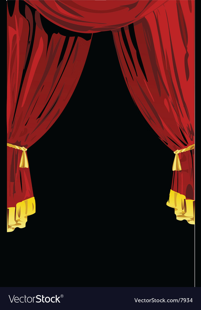 Theatrical curtains vector | Price: 1 Credit (USD $1)
