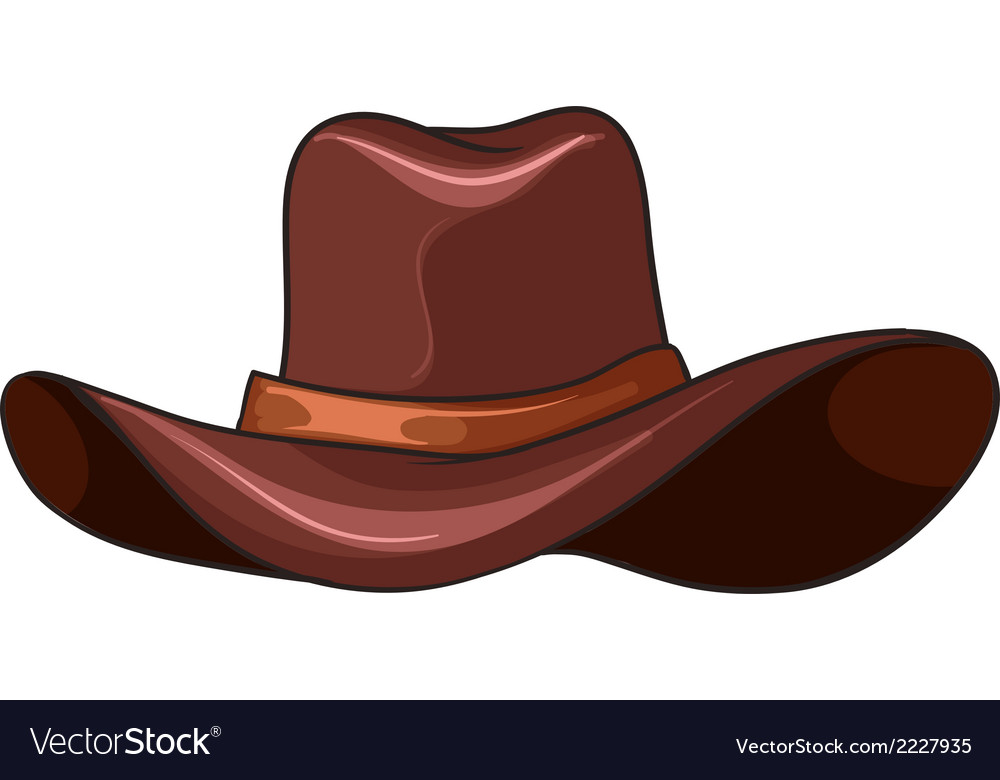A brown coloured hat vector | Price: 1 Credit (USD $1)