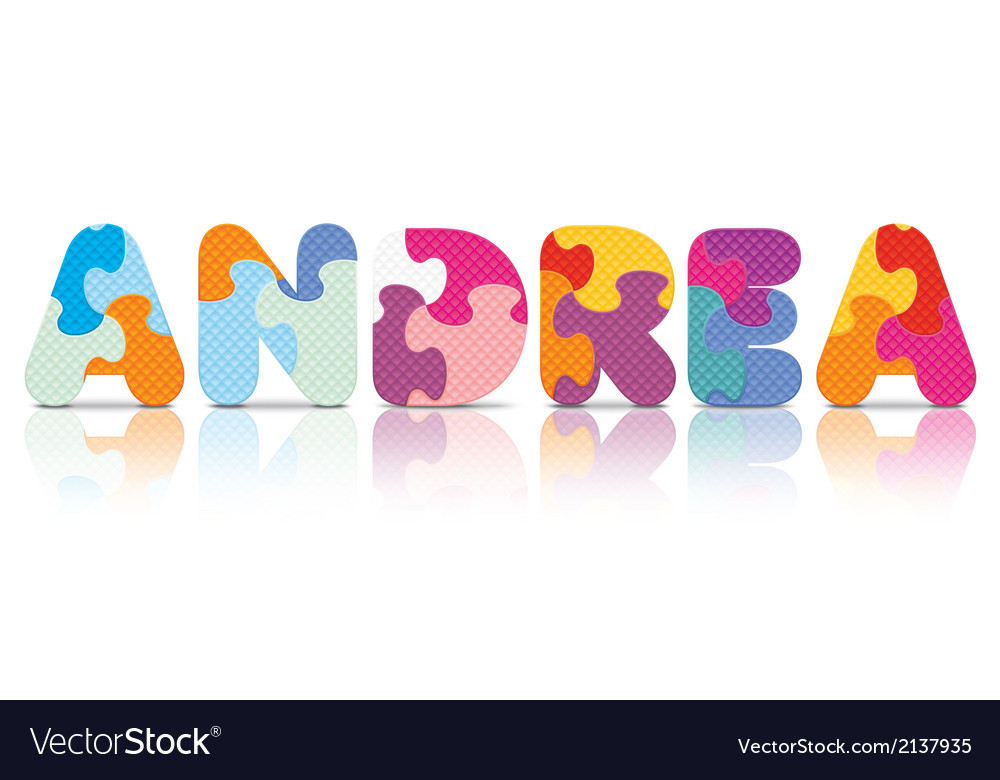 Andrea written with alphabet puzzle vector | Price: 1 Credit (USD $1)