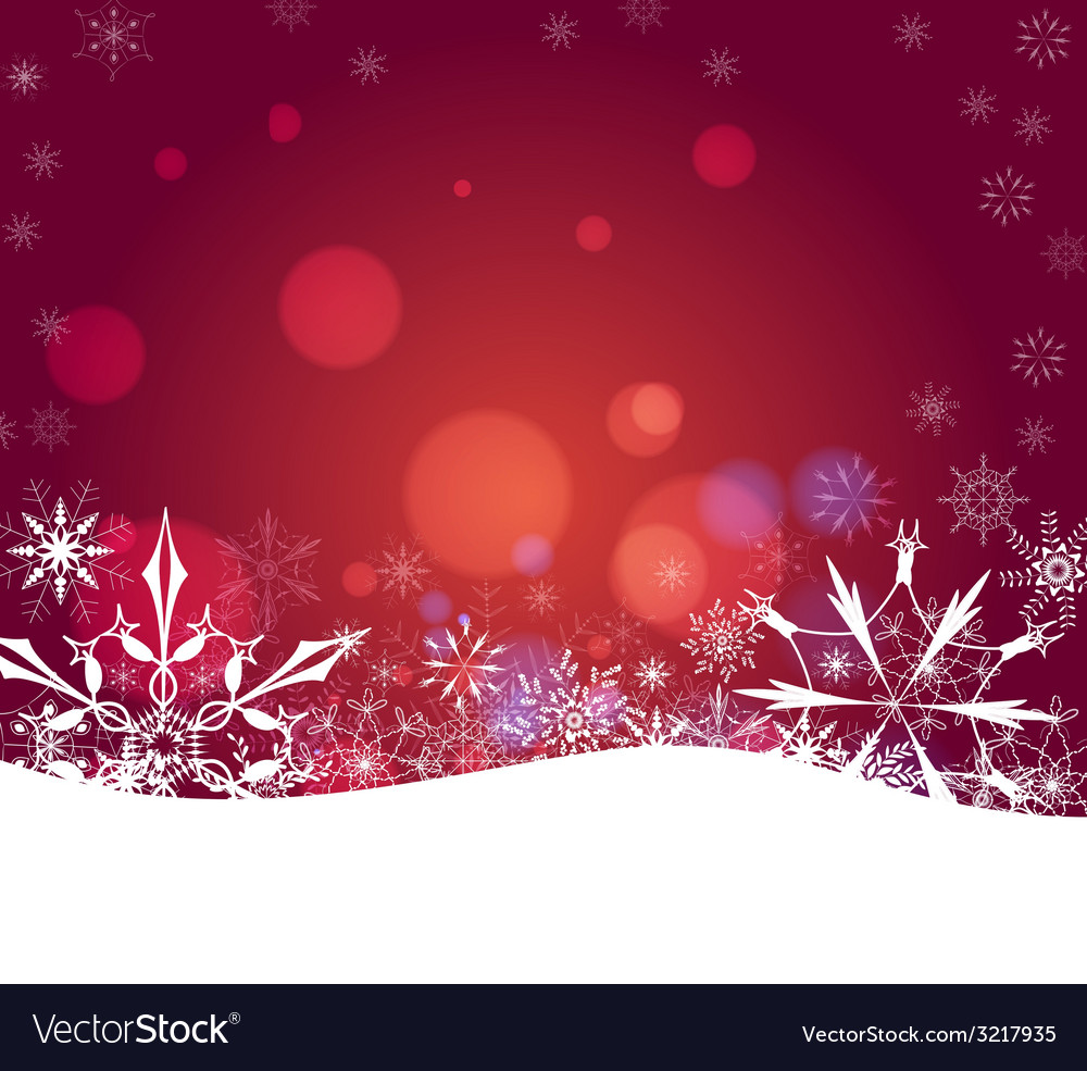 Christmas abstract snowflakes background vector | Price: 1 Credit (USD $1)