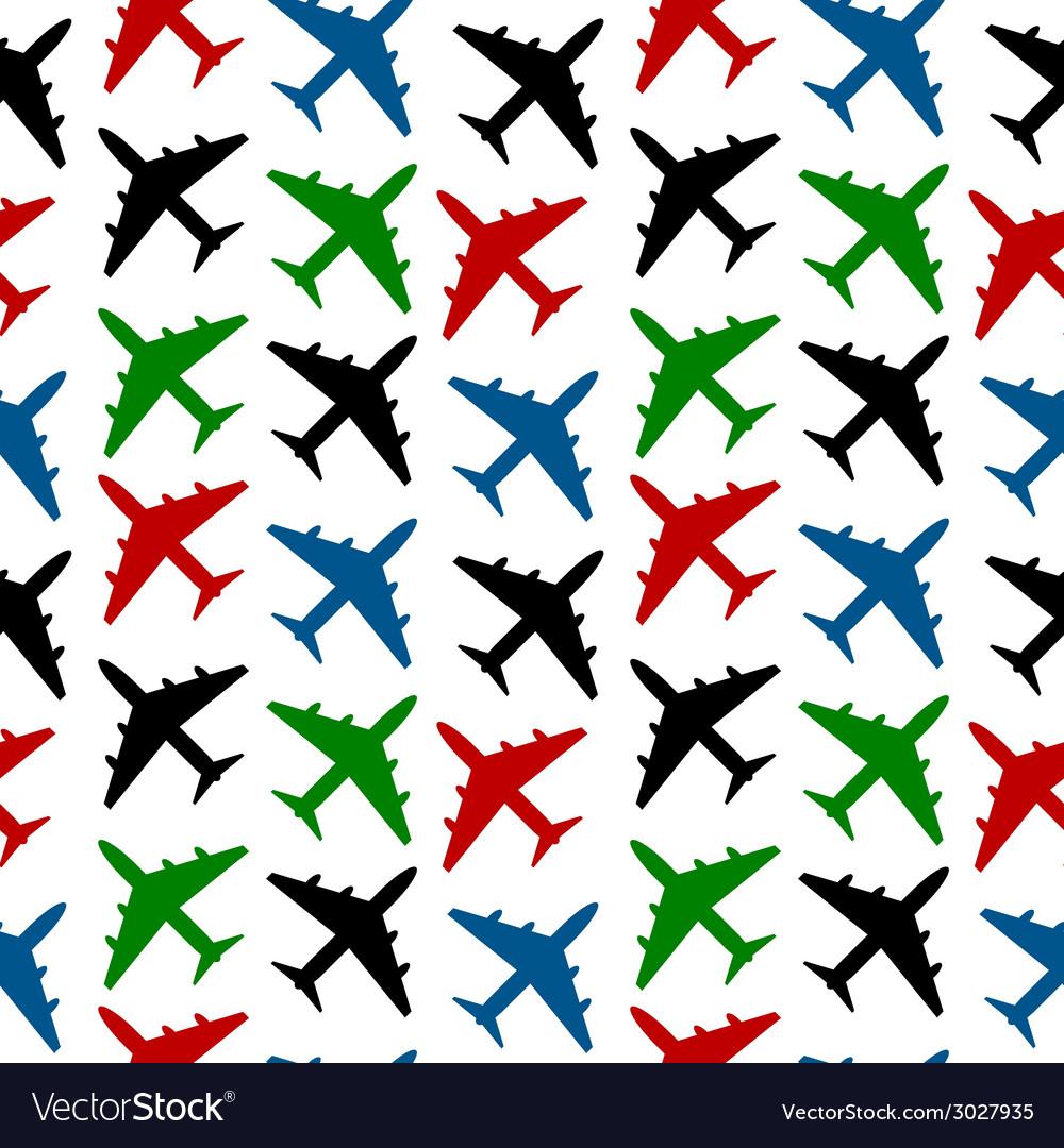 Plane seamless pattern vector | Price: 1 Credit (USD $1)