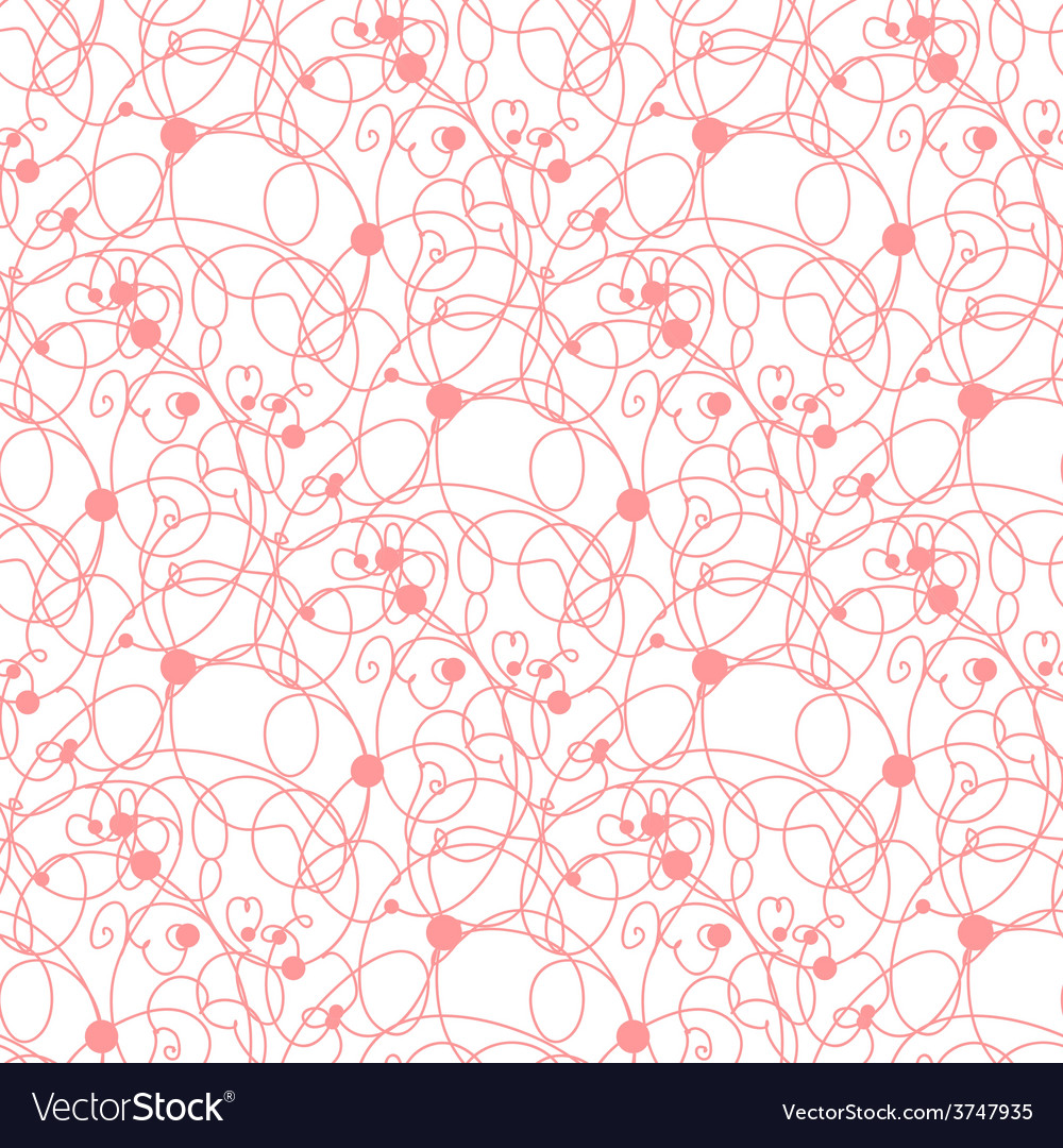 Seamless pink lines and dots pattern vector | Price: 1 Credit (USD $1)