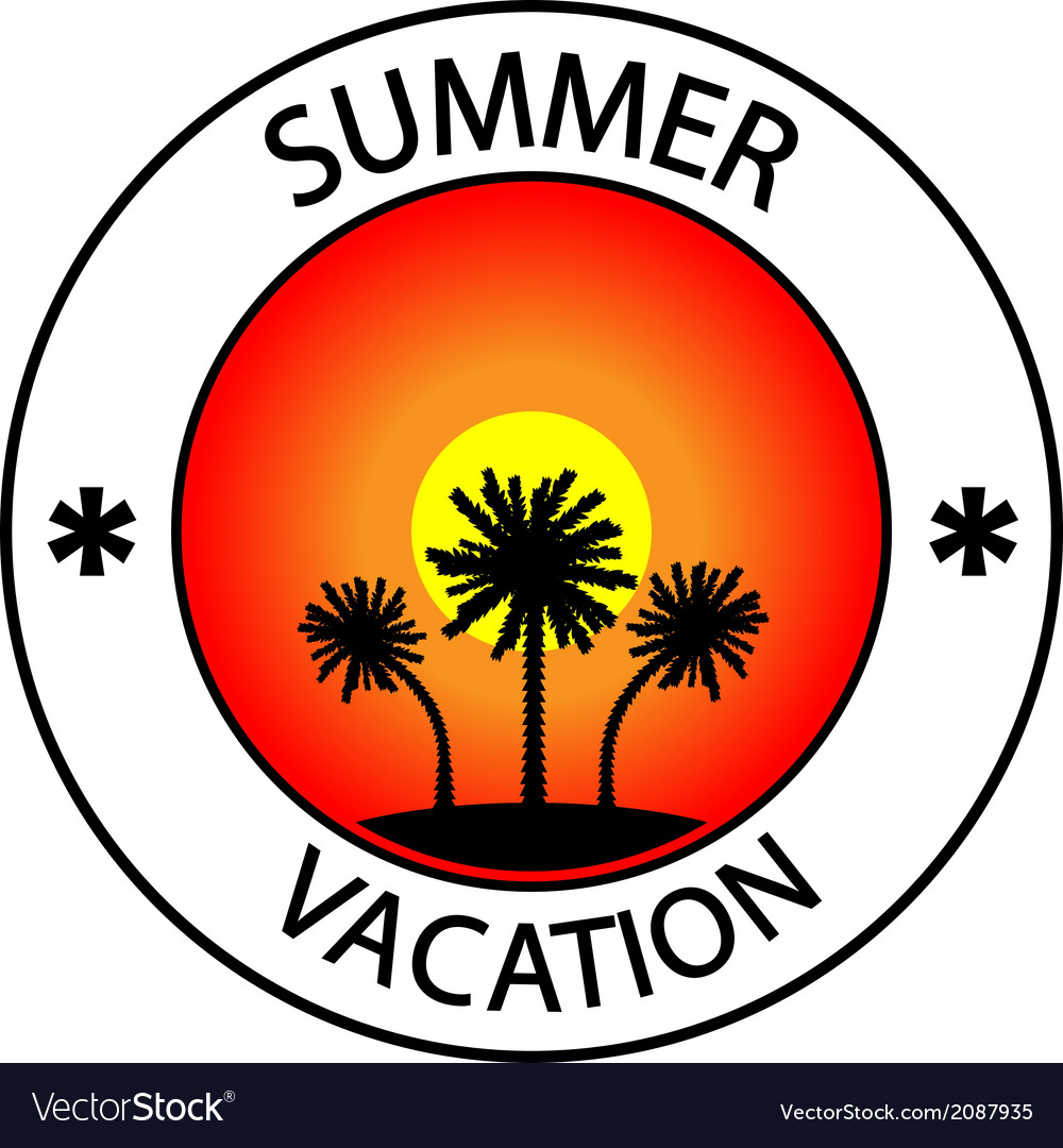 Summer vacation stamp vector   Price: 1 Credit (USD $1)