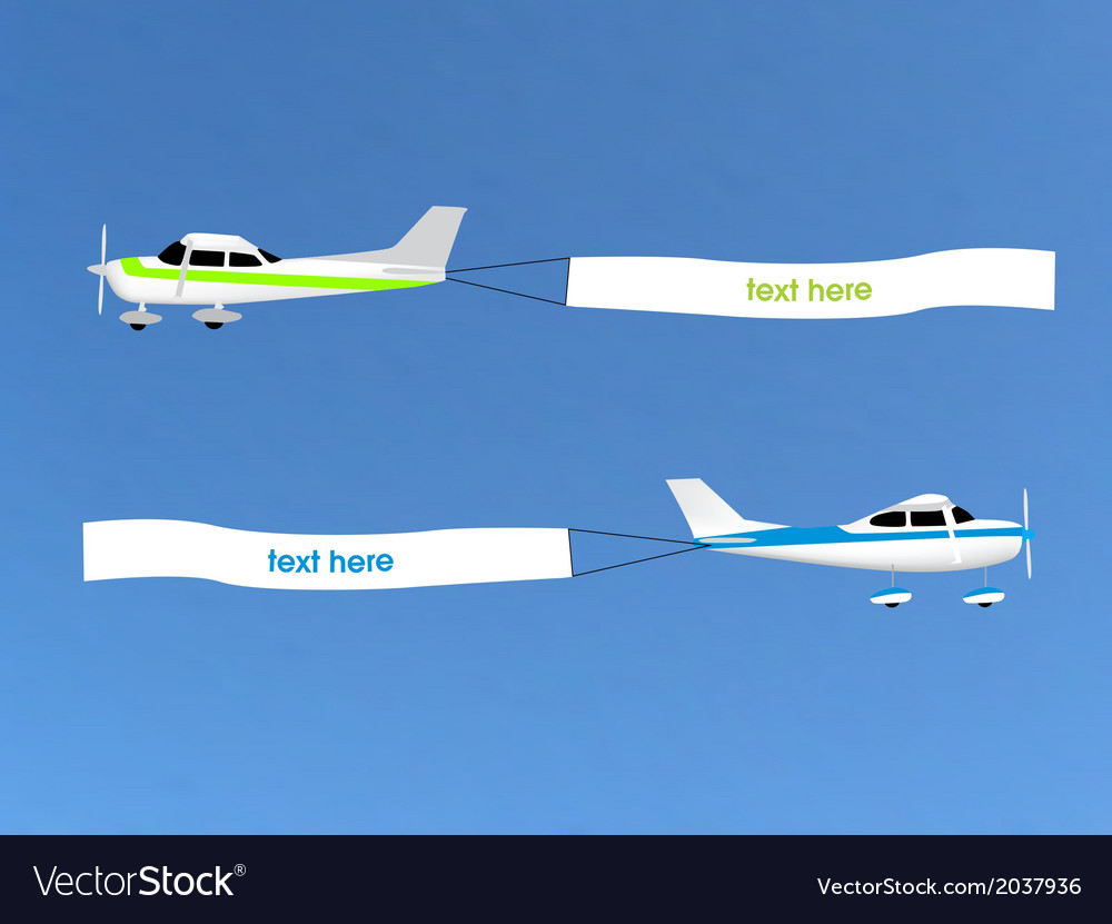 Airplane banner vector | Price: 1 Credit (USD $1)