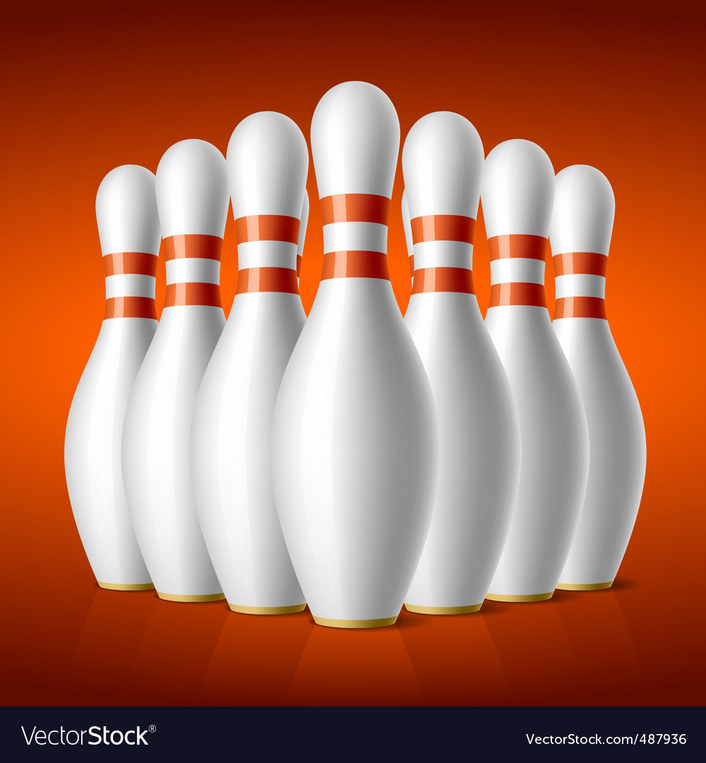 Bowling pins vector | Price: 3 Credit (USD $3)