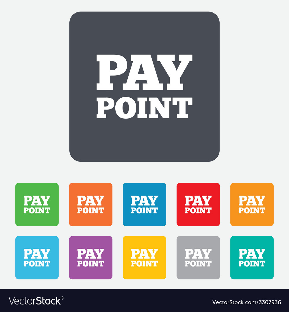 Cash and coin sign icon pay point symbol vector | Price: 1 Credit (USD $1)