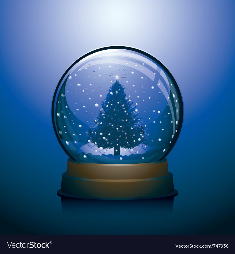 Christmas snow globe vector   Price: 1 Credit (USD $1)
